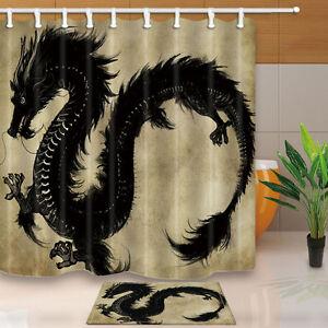Image Is Loading Chinese Dragon Bathroom Decor  Waterproof Fabric Shower Curtain