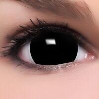 "Mini Sclera Lenses ""Black"" schwarze Kontaktlinsen Fun Farbige Halloween Linsen"