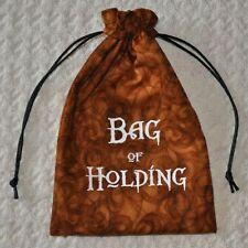 D&D Dungeons & Dragons dice magic BAG of HOLDING Glow in the Dark ORANGE bag