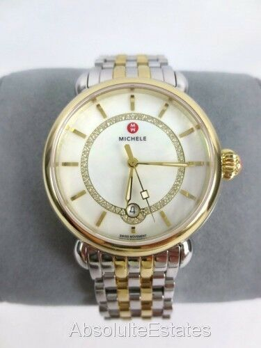Michele Csx Elegance Mother Of Pearl Two Tone Women S Watch Mww03t000064