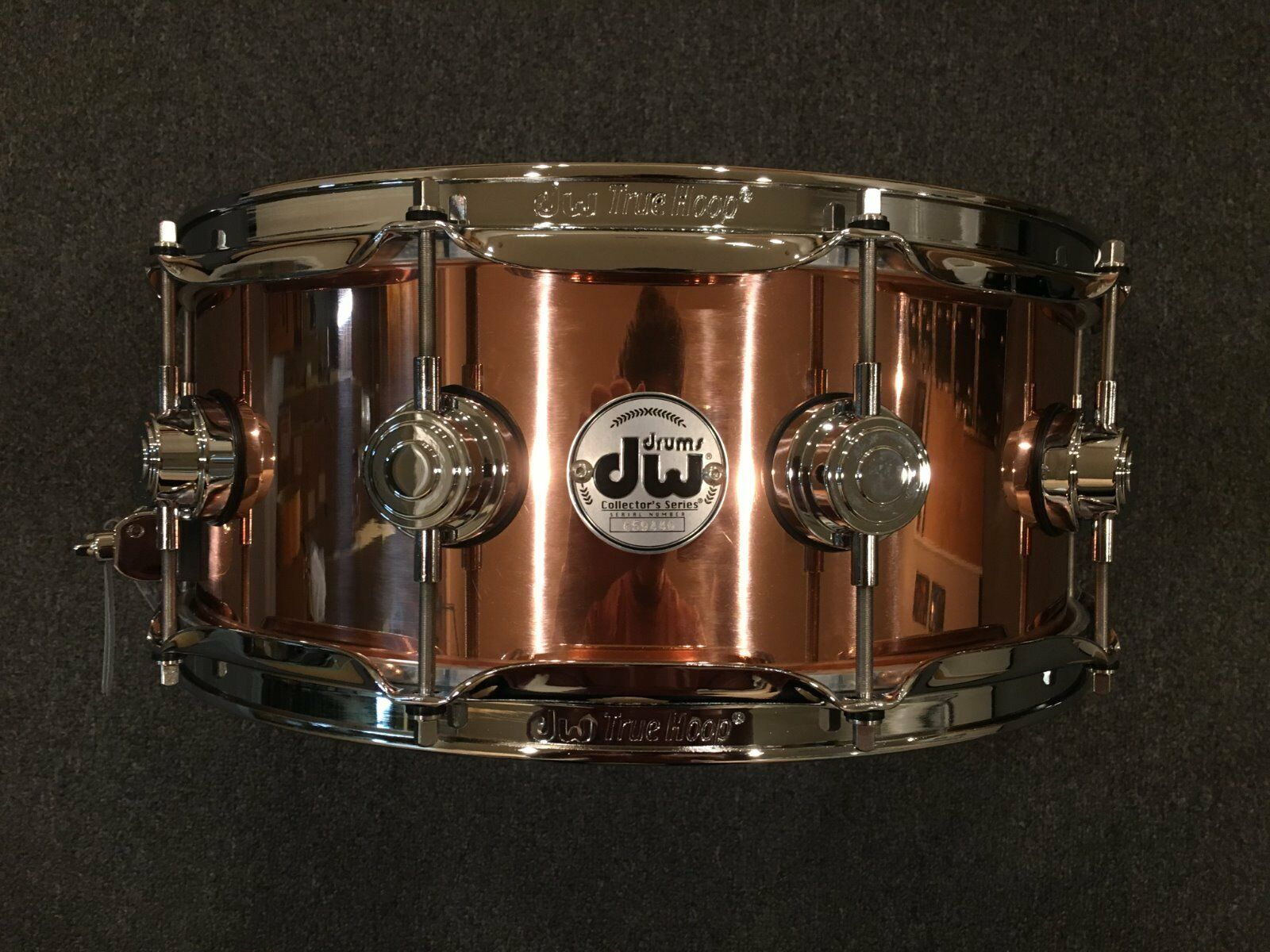 DW Collector's Series 5.5x14 Polished Copper Snare w Chrome Hardware