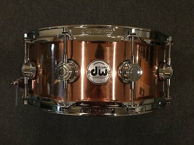 dw collector 39 s series polished copper snare w chrome hardware ebay. Black Bedroom Furniture Sets. Home Design Ideas