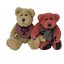 thumbnail 2 - 2-Vintage-Boyds-Bears-Bosley-Tan-and-Rare-Red-Toe-Boyds-Bear-Jointed-8in-and-9in