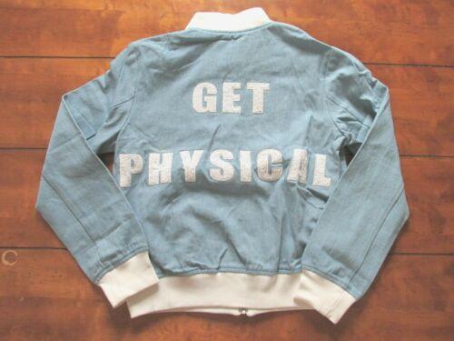 Små Night Denim Bomber Walker Størrelse Women Spændende Jacket For Fysisk Blue O6Y7vq