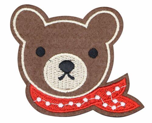 TEDDY BEAR HEAD PATCH TEDDY BEAR  APPLIQUE EMBROIDERED TBRS-562