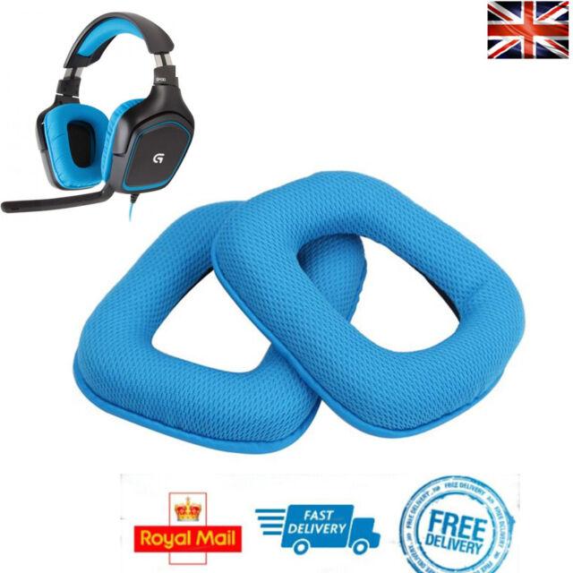 x2 Replacement Ear Pads BLUE For Logitech G430 G930 G35 F540 Foam Cushion Cups