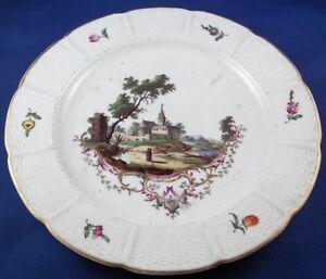 Antique-18thC-Ludwigsburg-Porcelain-Scenic-Plate-Porzellan-Szenen-Teller-Scene