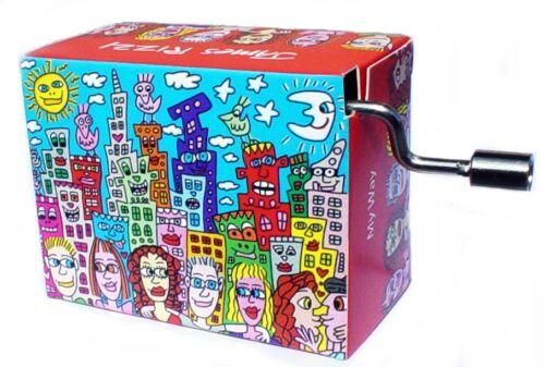 My Way Kurbelwerk James Rizzi Spieluhr Mini Drehorgel Happy Birthday