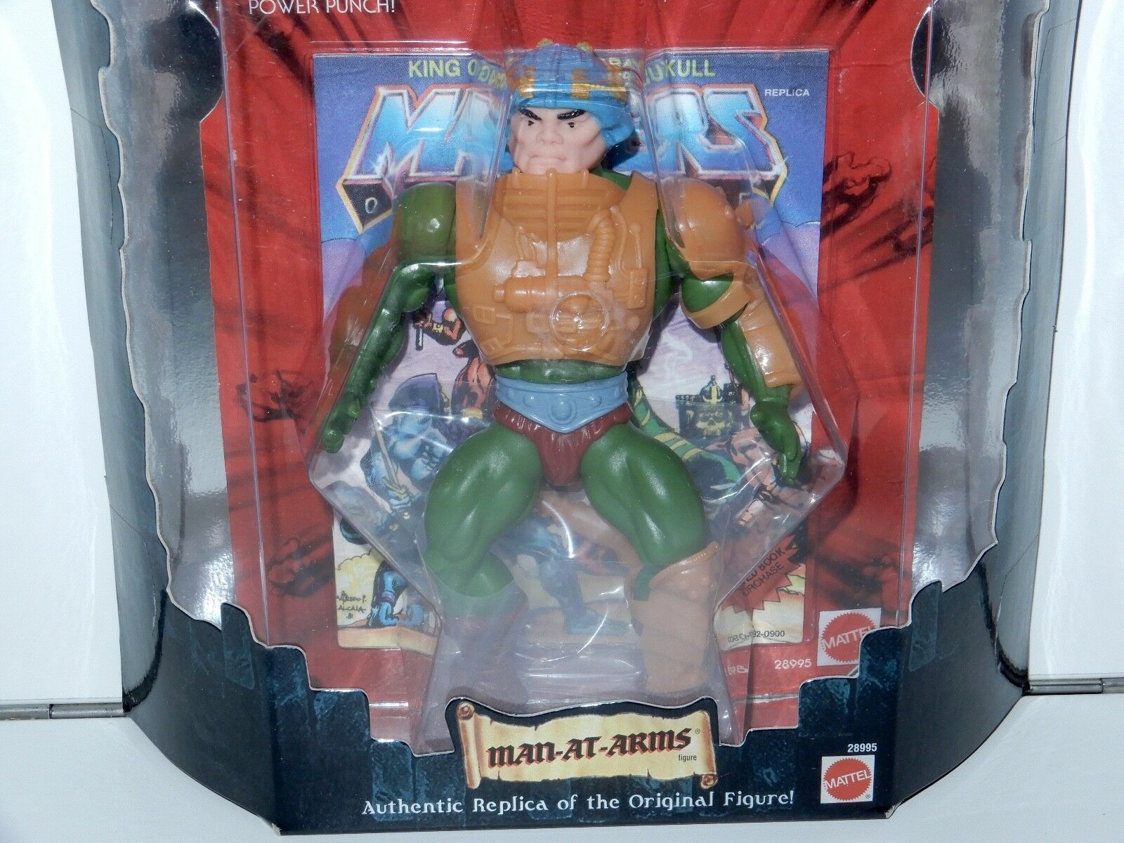 MOTU HE-MAN MASTERS OF THE UNIVERSE COMMEMORATIVE SERIES MAN-AT-ARMS MISB MATTEL