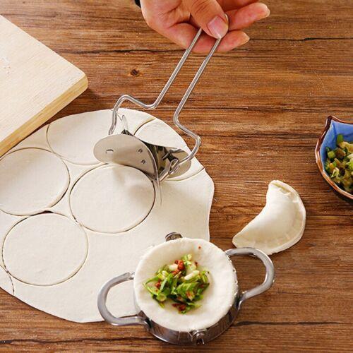2Pcs//Set Stainless Steel Dumpling Maker Dough Presser Cutter Dumpling Mould