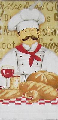 Le Chef Fresh Bread Wine cotton kitchen dish towel