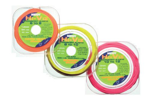 MIDDY HI VIZ FLUORESCENT SOLID POLE ELASTIC FOR COARSE OR POLE FISHING