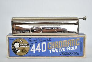 Antique Borrah Minevitch Twelve-Hole Chromatic Professional Harmonica Nº 440