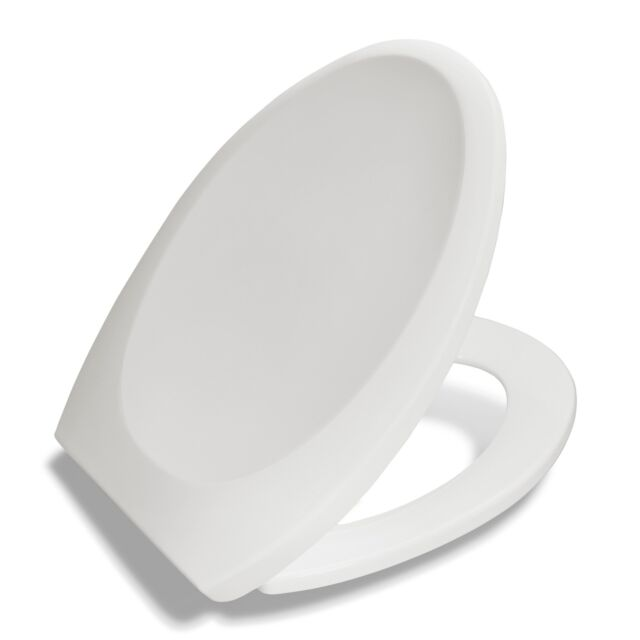 Bath Royale Premium Elongated Toilet Seat With Cover White