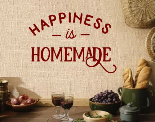 Happiness is Home Made Kitchen Vinyl Wall Decal Sticker Home Decor