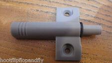 2 Gris Plástico Armario Puerta Amortiguador Amortiguador suave más StarSuncatcher30mmCristalClaroPentágonoChevronPrismaColgante