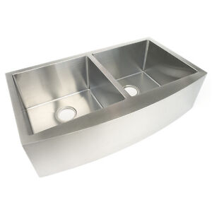 Image Is Loading Volfen 36 034 Stainless Steel Farmhouse Apron Sink