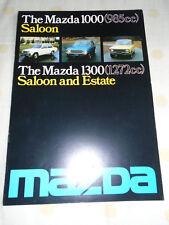 Mazda 1000 985cc Saloon & 1300 1272cc Saloon & Estate brochure Mar 1976