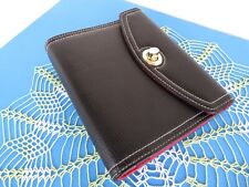 Franklin Covey Day One Compact 1 Rings Blk Pebbled Sim Leather Planner Binder