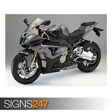 Poster Print Art A0 A1 A2 A3 A4 BMW S 1000 RR BLACK 1670 Motorbike Poster