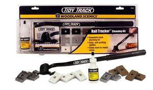 HO-N-O-Woodland-Scenics-TT4550-Tidy-Track-Rail-Tracker-Cleaning-Kit