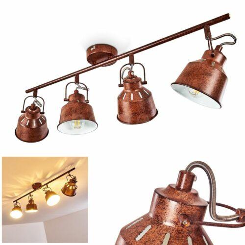 Decken Lampe rostbraun Wohn Schlaf Zimmer Leuchte Vintage Flur Dielen Strahler
