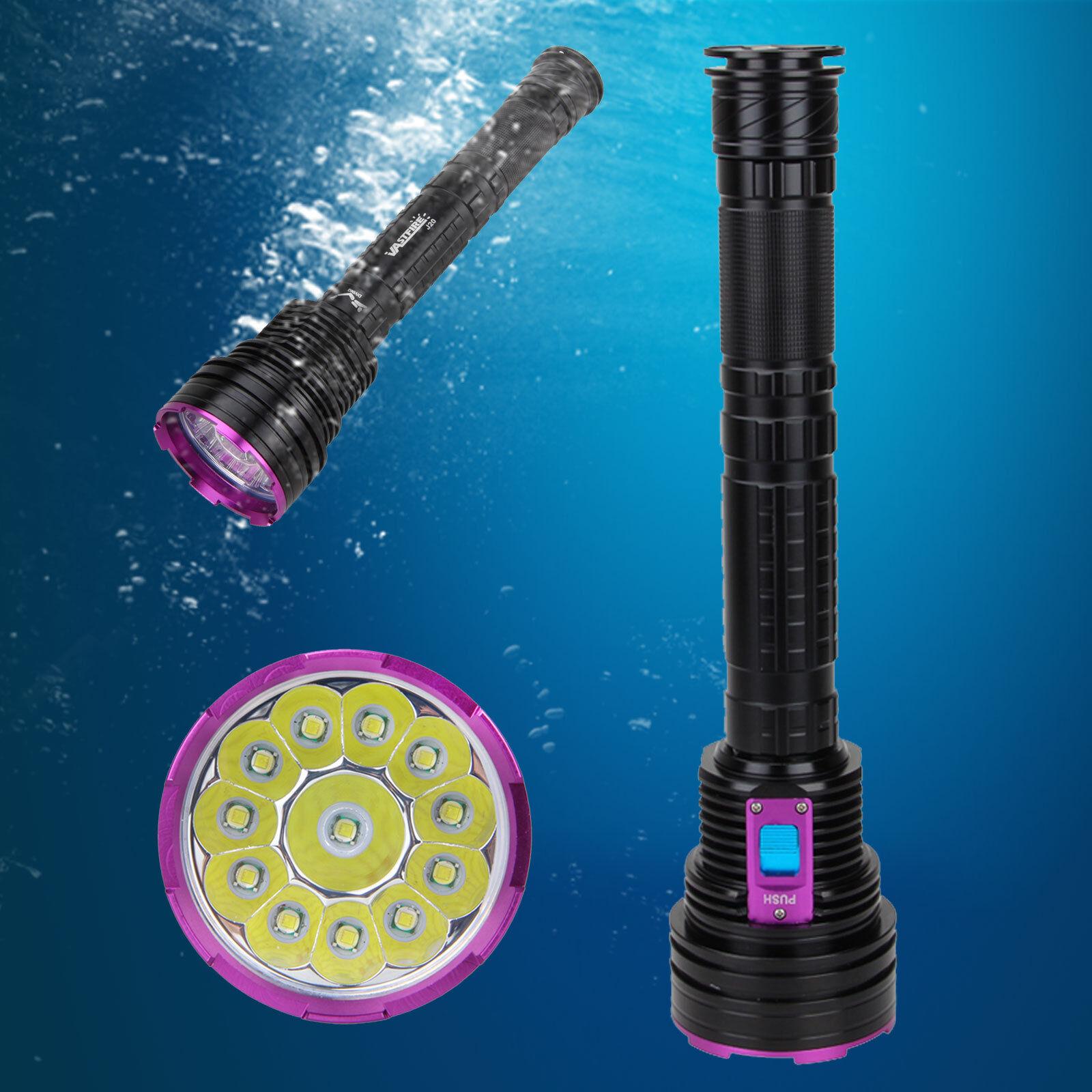 Powerful 30000Lm Handlampe 12xXM-T6 LED Handlampe 30000Lm Taschenlampe 26650 Tauchlampe bis 100m fc403f