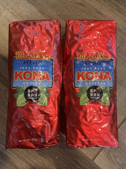 """KONA Coffee """"Mamalahoa Estate"""" 100% Kona Coffee Beans by SF BAY COFFEE 2LBS"""