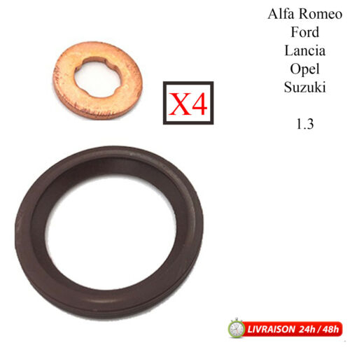 4x Joint d/'injecteur 1.3 pour Alfa Romeo Ford Lancia Opel Suzuki