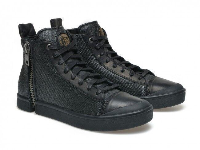 Diesel Nentish   Y01172 P1111 T8013 High Top scarpe da ginnastica nero Sparkle Men 7.5 - 11