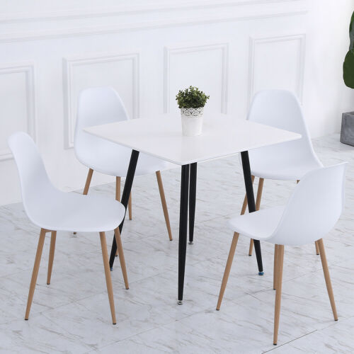 4X Eiffel Inspired Dining Chairs Padded Home Office Kitchen High Back Chair Seat White+Metal Legs,Black+Metal Legs,Grey+Metal Legs,Green+Metal Legs,Orange+Metal Legs