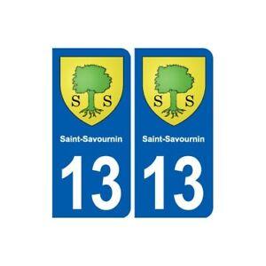 13 Saint-savournin Blason Ville Autocollant Plaque