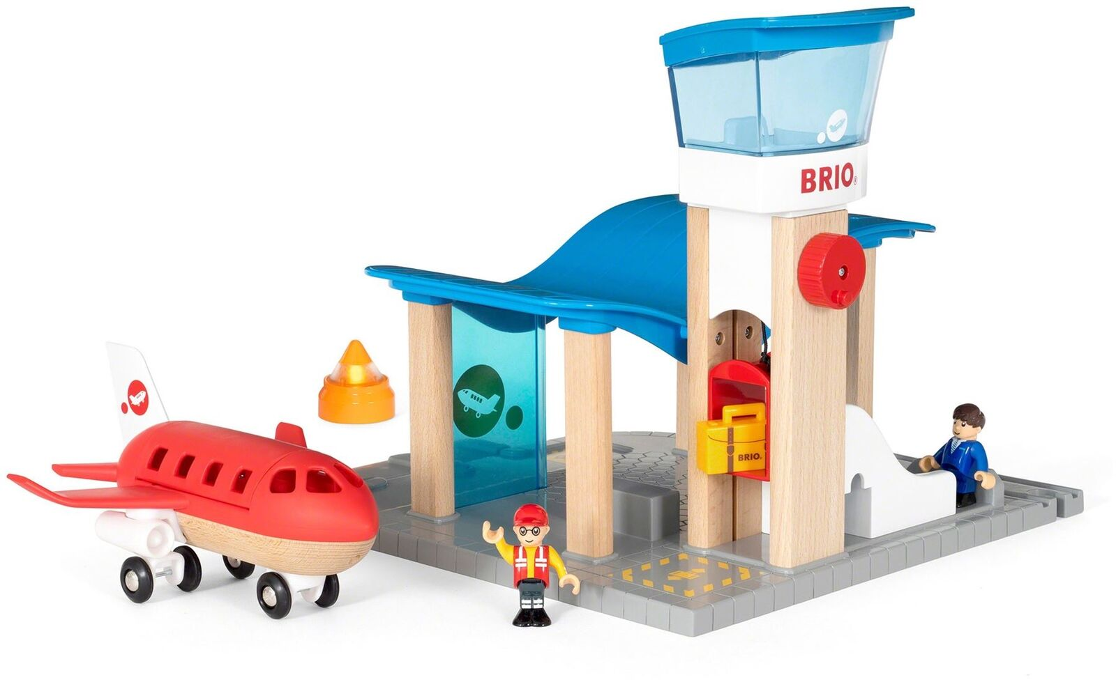 Brio AIRPORT WITH CONTROL TOWER Toy Aeroplanes - NEW