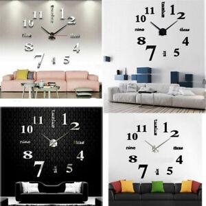 Image Is Loading 3D Wall Clocks Modern Simple DIY Digital Watch