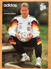 Andreas Köpke AK DFB 1992 Autogrammkarte original signiert