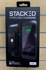 Stacked Black Wireless Magnetic Charger 2750mah Phone Case for iPhone 6 Plus