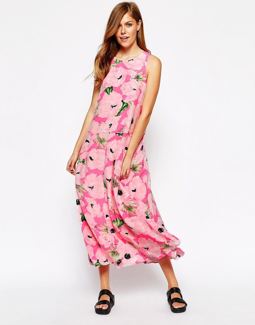 BNWT  229.95 100%Silk FRENCH CONNECTION FCUK Poppy Floral Dress Pink Size 8 14