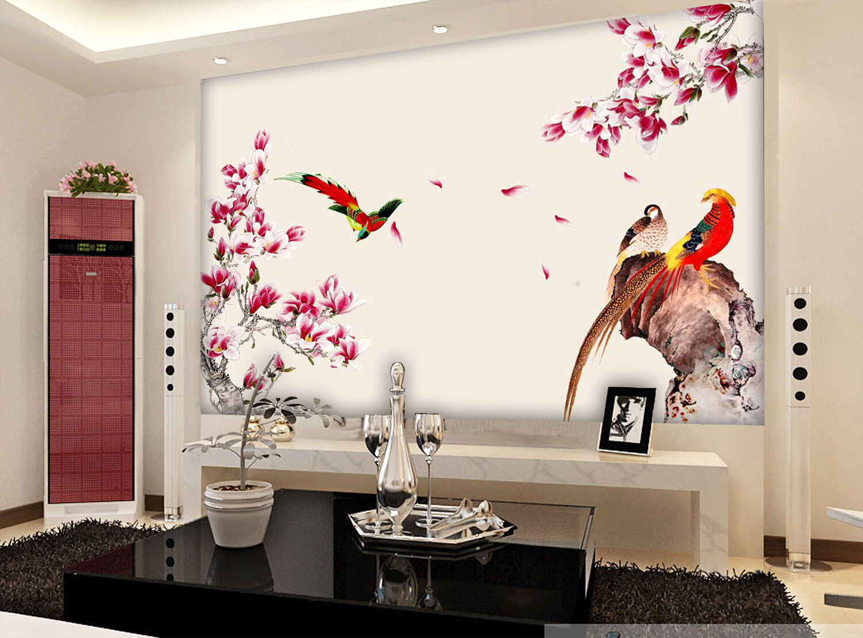 3D Flower Bird Painting 775 Wallpaper Mural Paper Wall Print Wallpaper Murals UK