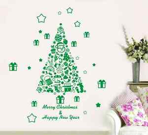 Stickers Wall Paper Decal  uk  RUI31 Christmas New Year Decor Shop Window