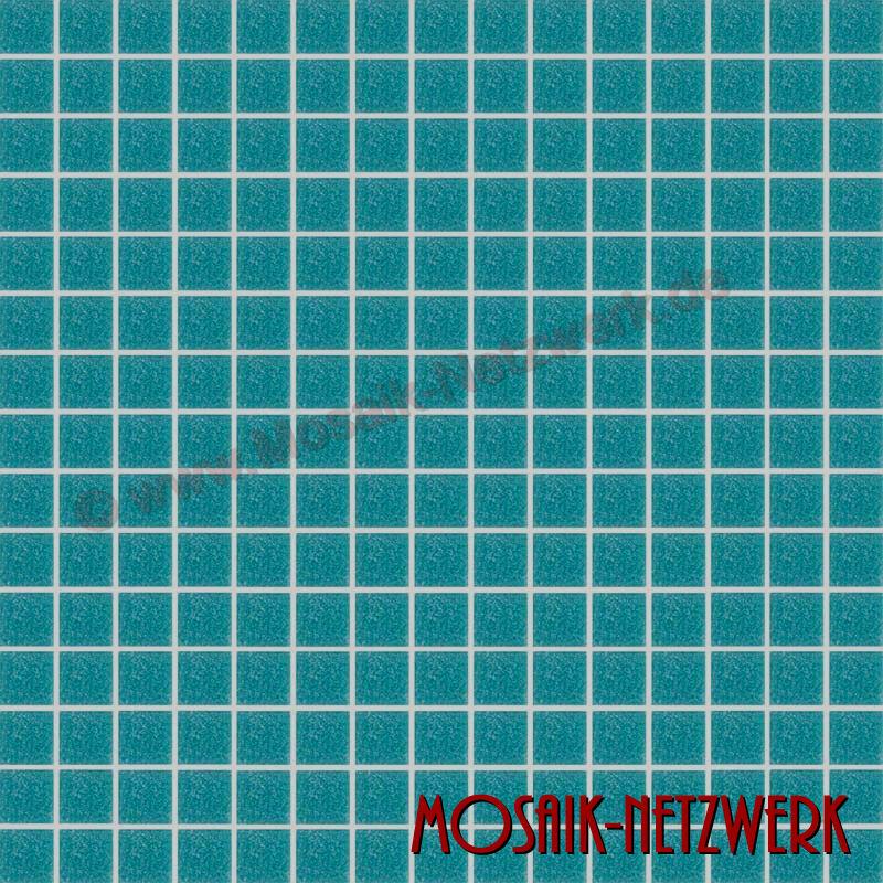 Mosaik türkis grün Glasmosaik Fliese Schwimmbadmosaik Poolmosaik Art 200-A63 1qm