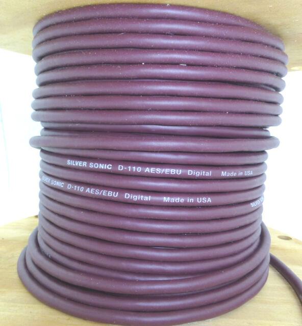 DH Labs Silver Sonic D-110 AES/EBU Cable Bulk per foot DIY Digital cable