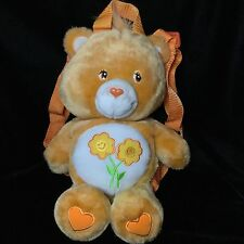 Care Bear Friend Orange Back Pack Plush Stuffed 2003 TCFC Flowers