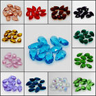 10pcs Wholesale Faceted Teardrop glass crystal Charm Loose Spacer beads 10x16mm