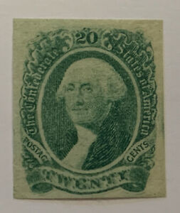 Travelstamps: US CSA Confederate Stamp # 13 Mint OG Washington, 20 cents
