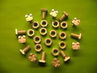 10 ALUMINIUM GREENHOUSE STANDARD SQUARE HEAD 11MM BOLTS AND NUTS