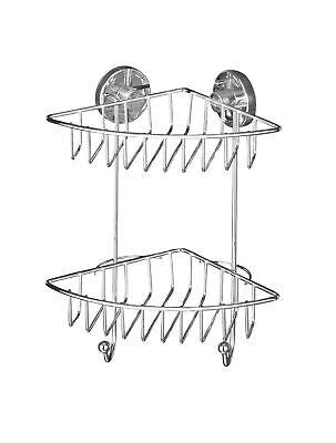 WENKO Vacuum-Loc Wandregal 2 Etagen Bari Befestigen ohne bohren   Badregal