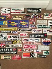 20 GENUINE MOTORSPORT STICKERS TOOLBOX DECALS  STICKERBOMB RALLY DRIFT SELECTION