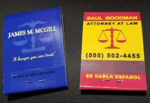 Better Call Saul Breaking Bad Matchbooks,  Both Versions, Real Matches!