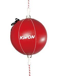 Punchingball-von-Kwon-Inkl-Gummis-Doppelendball-Kunstleder-Boxen-Kickboxen