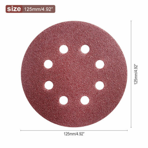 "60-2000 Grit Sanding Disc Pads 5/"" Orbital Sandpaper Sander Sheet Hook Loop x10"